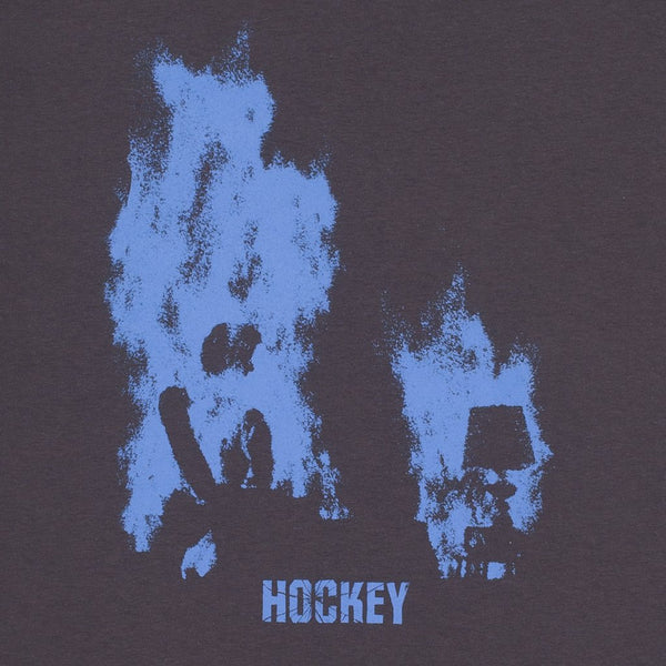 HOCKEY AT EASE TEE - CHARCOAL