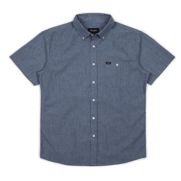 Central S/S Woven Shirt - Washed Royal