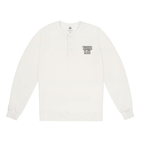 Class Act L/S Henley - White/Black
