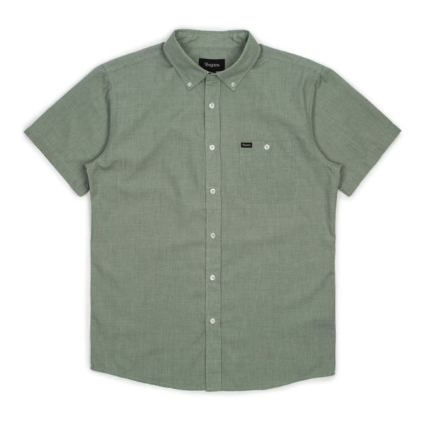 Central S/S Woven Shirt - Green Bay