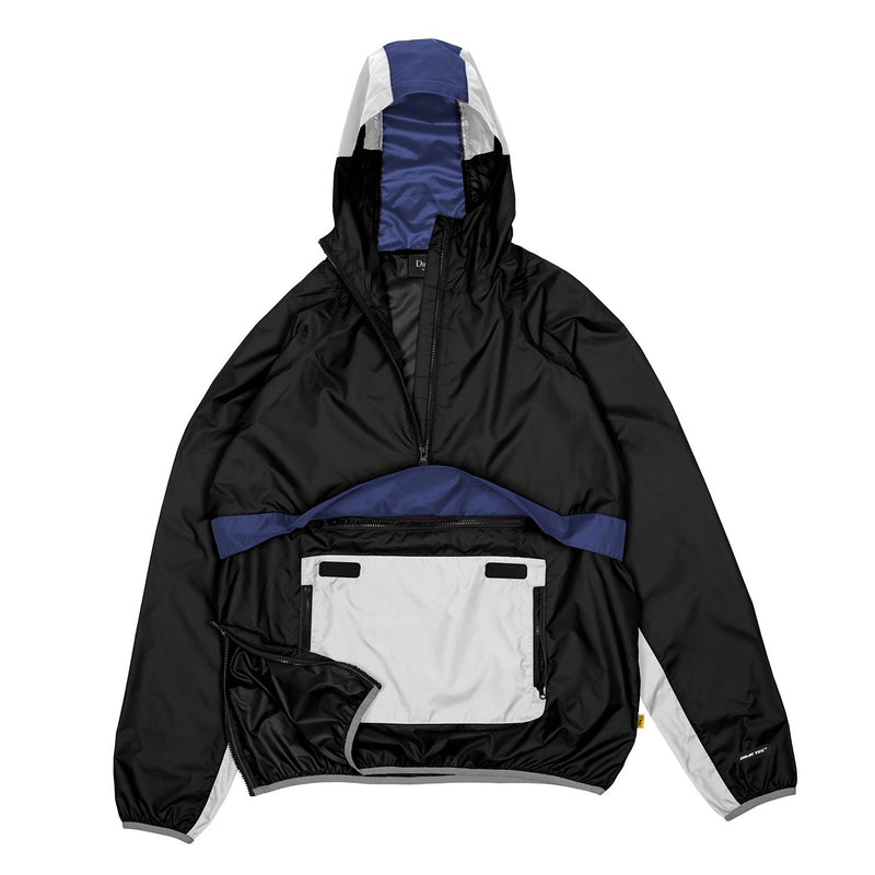 Dime Ripstop Pulllover Jacket - Black