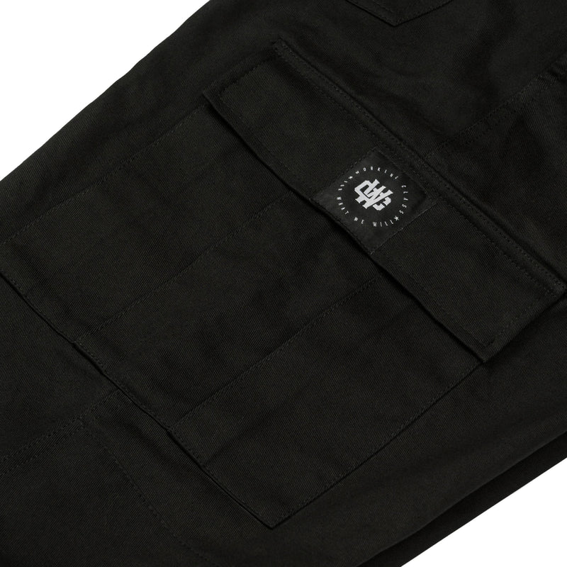 Working Class Monogram Cargo Pant - Black/Patch