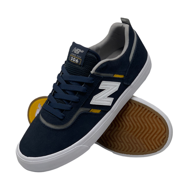 NEW BALANCE NUMERIC 306 FOY SHOE - NAVY/YELLOW