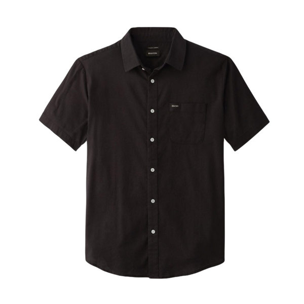 BRIXTON CHARTER OXFORT S/S WOVEN - BLACK