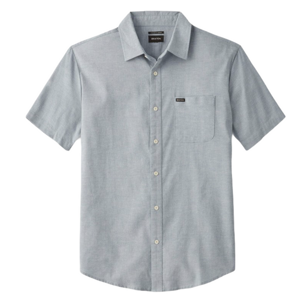 BRIXTON CHARTER OXFORT S/S WOVEN - LIGHT BLUE CHAMBRAY