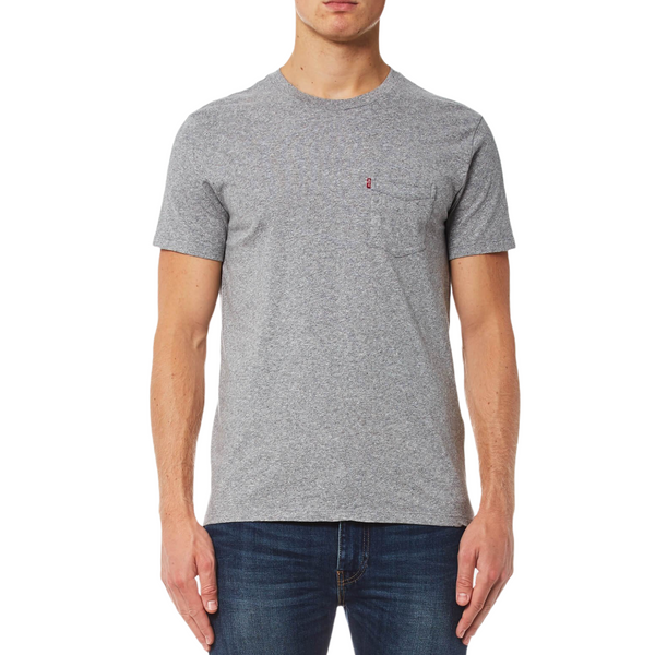 Sunset Pocket T-Shirt - Medium Grey/Heather