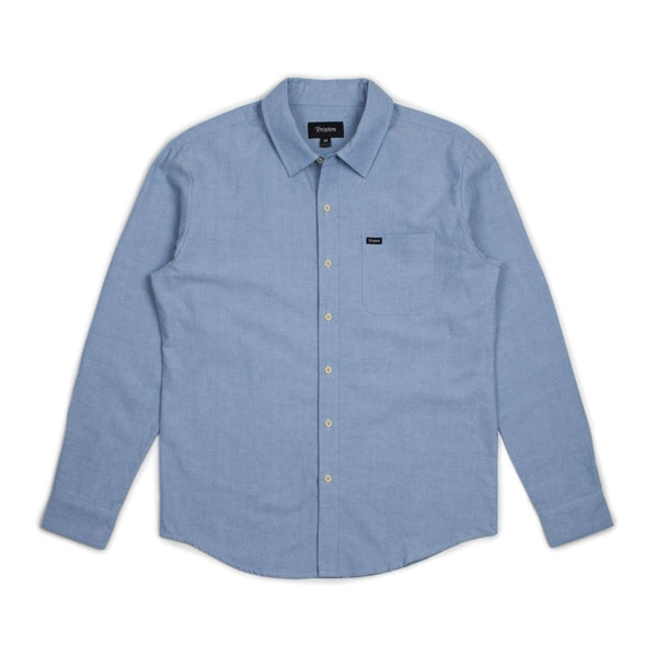 Charter Oxford L/S Woven - Light Blue Chambray