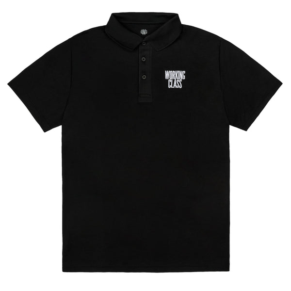 Class Act Embroidered Polo - Black/White