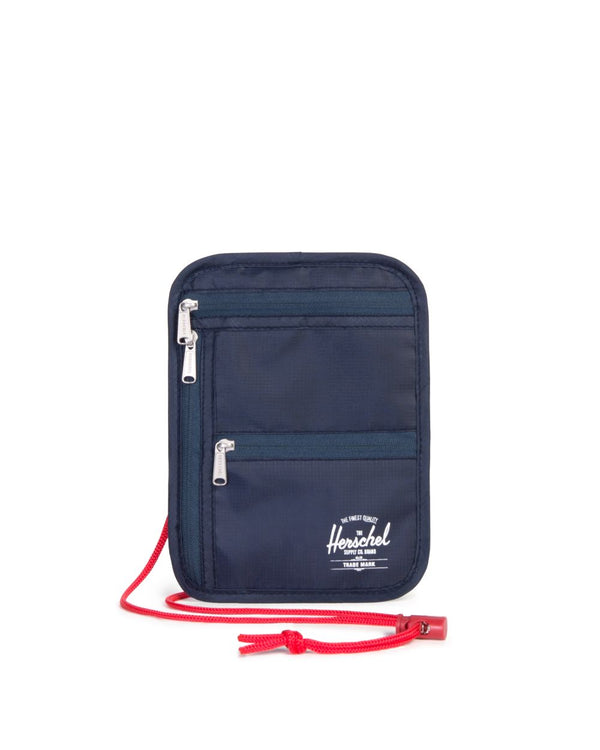 Money Pouch+ - Navy/Red