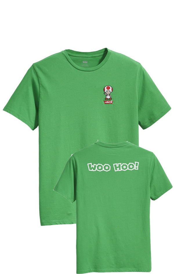 GRAPHIC SET-IN NECK 2 T-SHIRT - GREEN