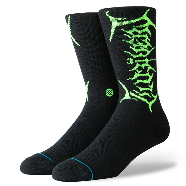 Uzi Neon Sock - Black