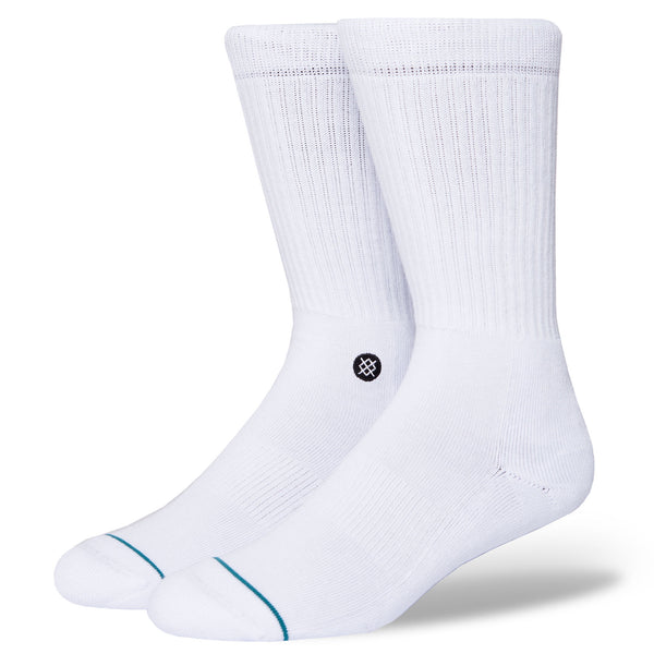 Icon Socks - White/Black