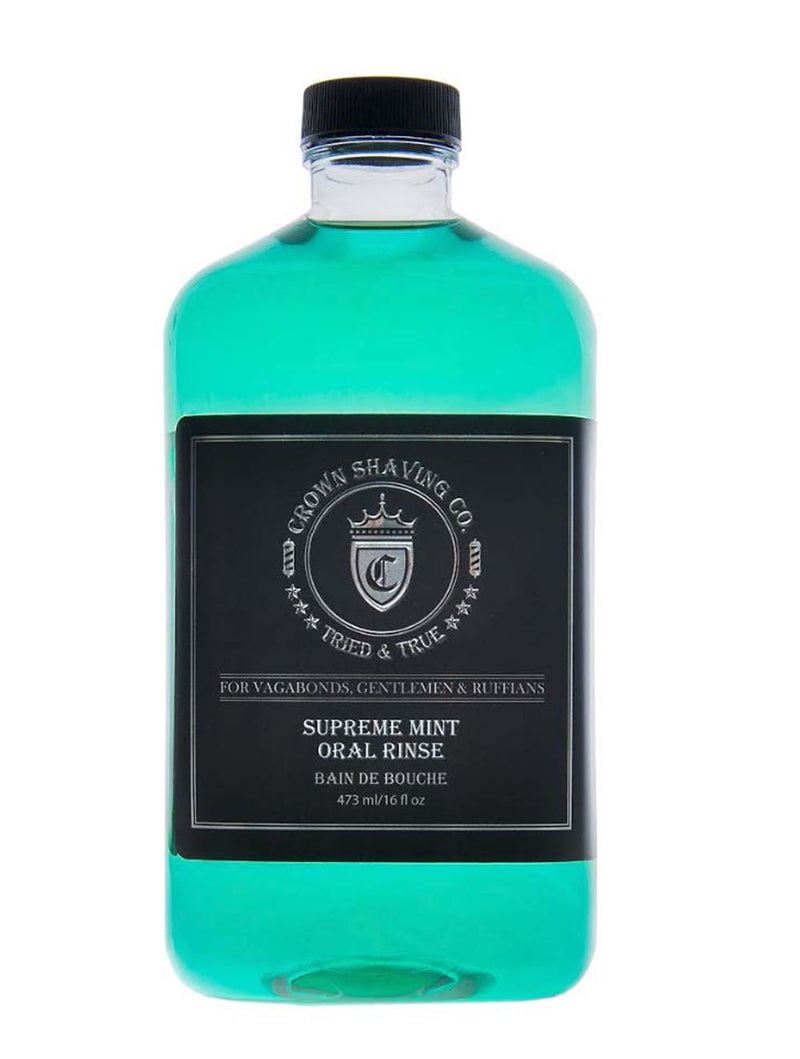 Crown Shaving Supreme Mint Oral Rinse - 473ml