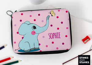 Federtasche Elefant mit Name