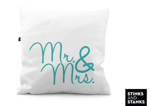 Kissen Mr. & Mrs. Blau