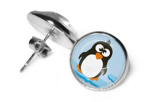 Ohrstecker Pinguin