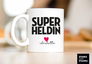 Tasse Superheldin Name