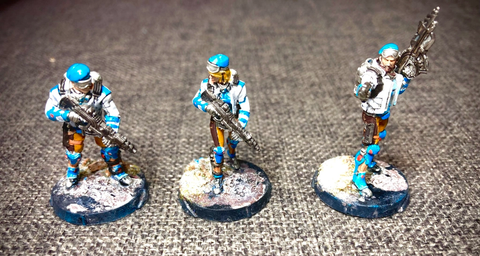 Our 3 PanOceania Fusiliers ready for battle.