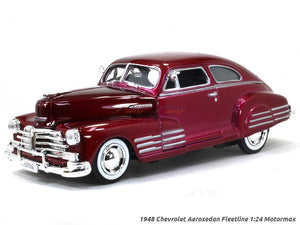 Motor Max - 1/24 Chevy Aerosedan Fleetline Metallic 1948 (M/Red)