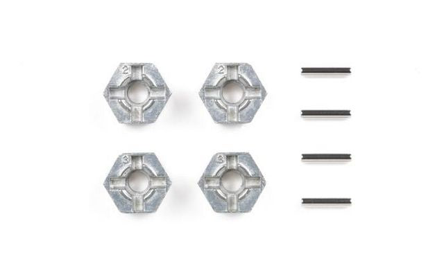 Tamiya - Pin Type Wheel Hub Adapter 4pcs