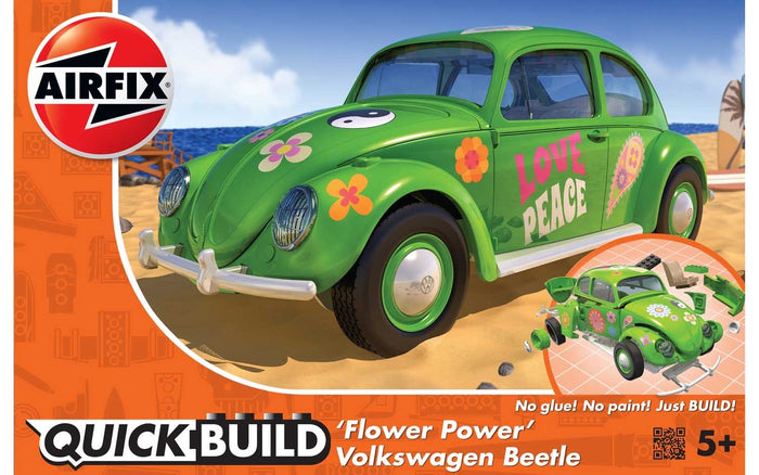Airfix - VW Beetle Flower Power (Quick Build)
