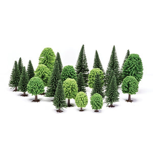 Hornby - R7201 Mixed Trees Deciduous & Fir 50-140mm x 20pcs