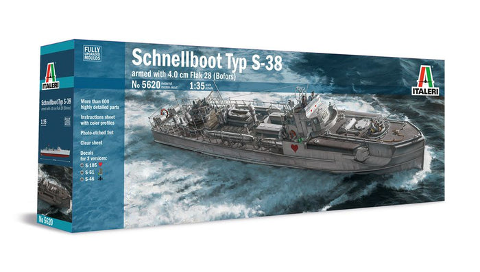 Italeri - 1/35 TYP S-38 Schnellboot with Bofors