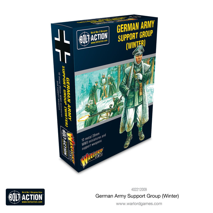 Warlord - German Army Support Group (Winter)(HQ & Mortar & MMG) (Metal)