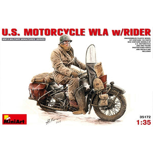 Miniart - 1/35 U.S. Motorcycle WLA with Rider