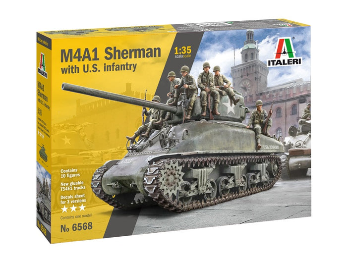 Italeri - 1/35 M4A1 Sherman with US Infantry
