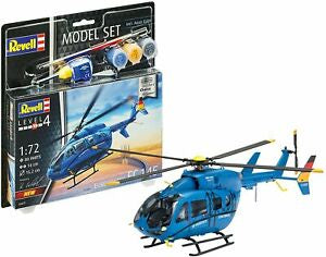 "Revell - 1/72 Eurocopter EC 145 ""Builders Choice"" (Model Set Incl. Paint)"