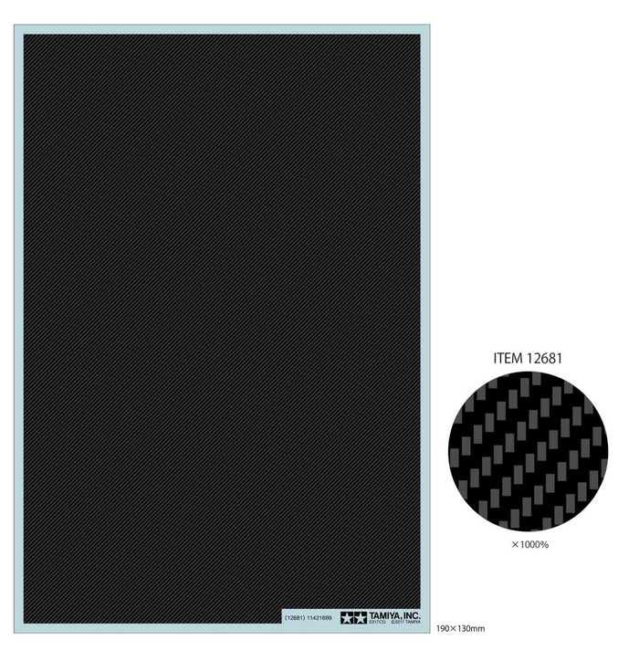 Tamiya - Carbon Decal Twill Weave - Fine