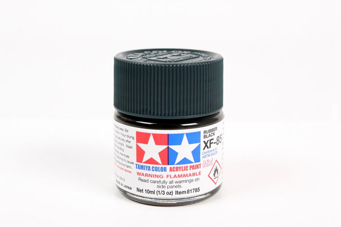 Tamiya - XF-85 Rubber Black Mini Acrylic 10ml