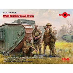 ICM - 1/35 WWI British Tank Crew (4 Fig.)