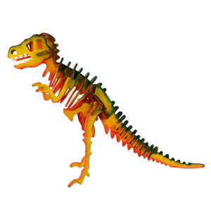 Robotime - 3D Wooden Puzzle with Paints - T-Rex