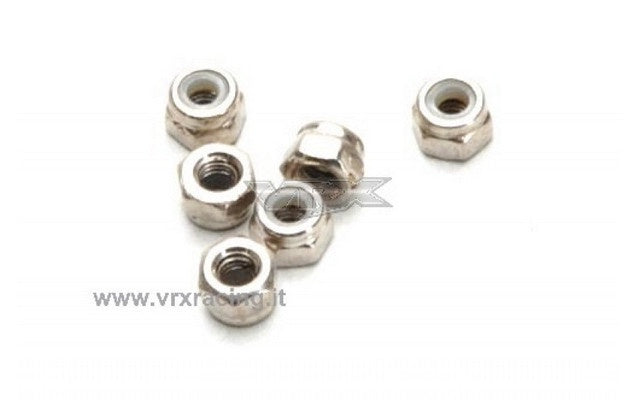 VRX - 5102 Nylon Lock Nut M3 for Buggy / Truck / Octane (6)
