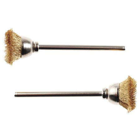 Proxxon - 28963 Brass Wire Brush Cone 2pcs
