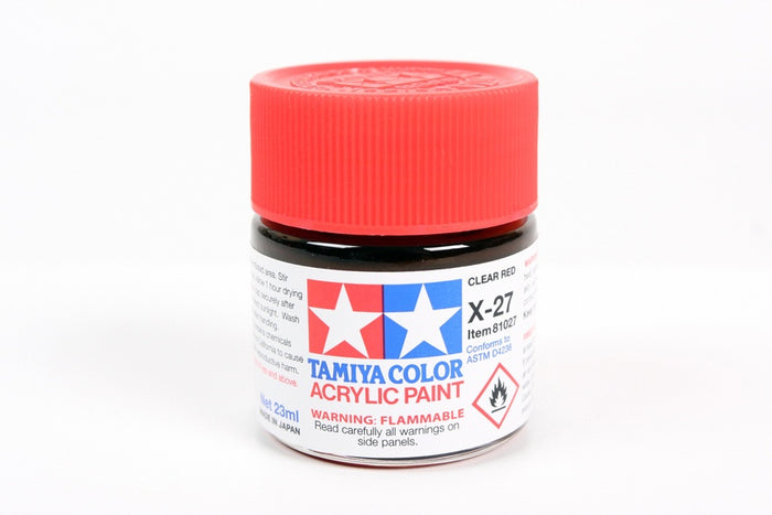 Tamiya - X-27 Clear Red Acrylic