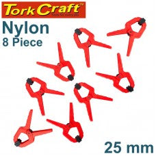 Tork Craft - Nylon Spring Clamp 25mm 8Pce Set