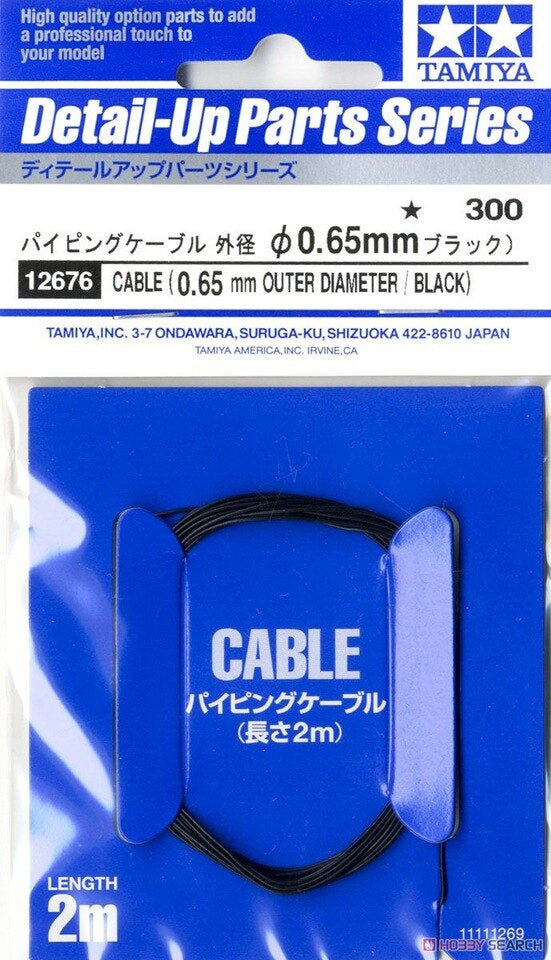 Tamiya - Cable 0.65mm OD (Black)