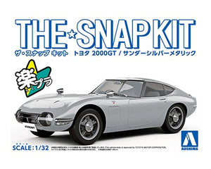 Aoshima - 1/32 Toyota 2000GT Sander Silver (The Snap Kit)
