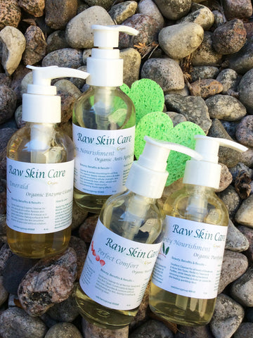 Organic Retail Cleansers 4oz. / 2oz.