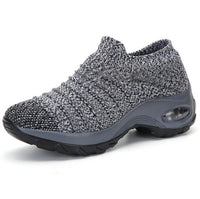 Autumn sneakers socks shoes mother shoes fly-knit large size shoes women thick bottom Fashion Sock Shoes Designer Causal Shoes