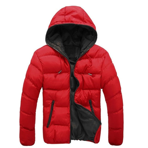Men Jacket Dual Color Long Sleeve Men Jacket Cotton Casual Winter Men Coats Comfortable Male Outwear Universal Boy Clothings