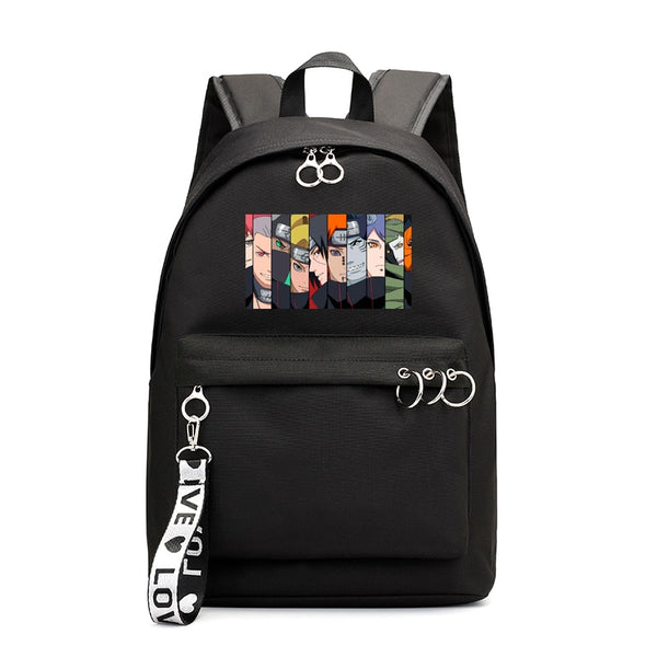 Naruto Akatsuki Backpack Girls Anime School Bags Japan Style Brand Casual Schoolbag Harajuku Bookbag for Women backpacks Femme