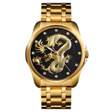 Mature Business Casual High-End Brand Creative Models Local Gold Quartz Watch Gold Dragon Shape Stainess Steel 2019 Men Watch