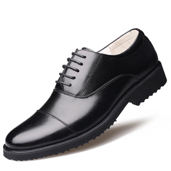 New Fashion Oxford Casual Business Men Shoes Genuine Leather High Quality Soft Breathable Flats Zip Shoes