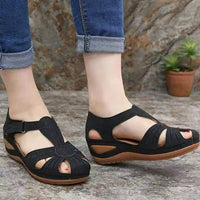 2020 Summer New Couple Sandals for Home Fashion  Round Head House Wedge Sandal for Women Casual Large Size Beach Shoes for Men