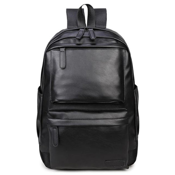 Casual Men'S Korean Backpack Backpack Backpack Soft Leather College Student Backpack