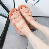 Women Summer Sandals Woman Jelly Shoes Women's Buckle Flat Platform Ladies Casual Female Fashion Beach Shoes  Gladiator 2020 New